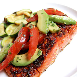 Blackened Salmon with Summer Tomato Salsa