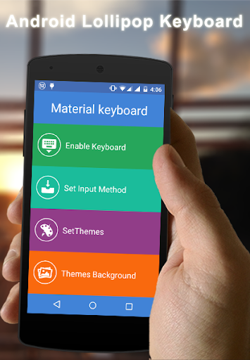 Android L Material Keyboard