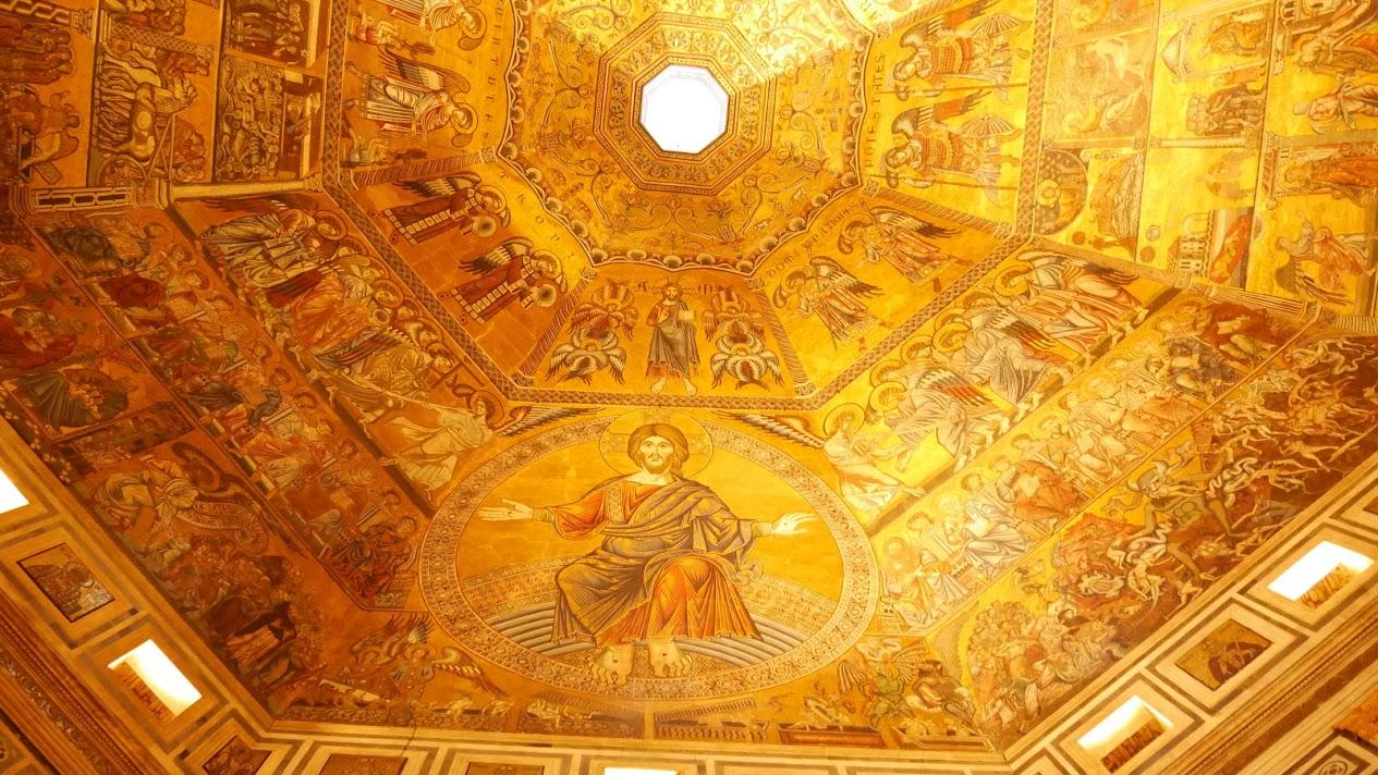 サン・ジョヴァンニ洗礼堂の天井のモザイク画