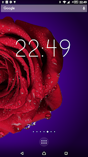 Rotating flower with Clock screenshot