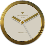 White Gold Clock Widget v2.51