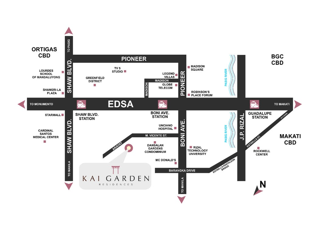 Kai Garden Residences, Mandauyong location map