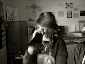 Photo: Having fun using a spectroscope.