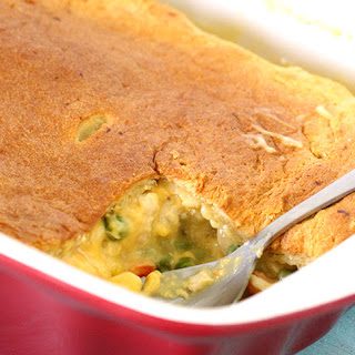 Cheesy Chicken Pot Pie with Only 5 Ingredients.