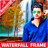 Moving Rain Waterfall Photo Editor Frame 2018