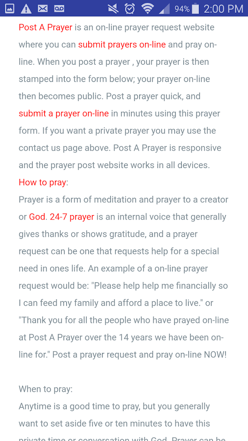 Post A Prayer (Official)- screenshot