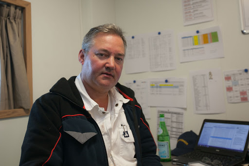Viking-Star-Chief-Engineer - Chief engineer Peter Nilsson in his office in the crew quarters of Viking Star.