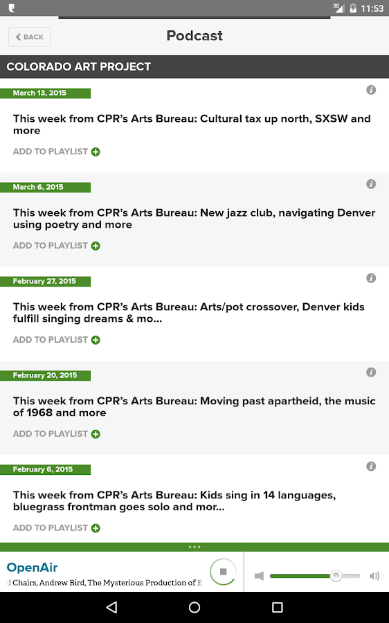 Colorado Public Radio- screenshot