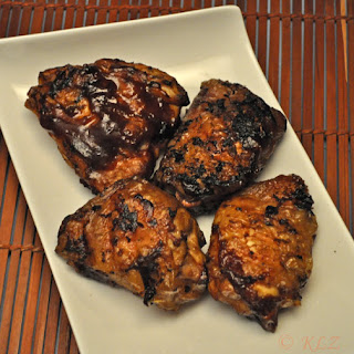 Grilled Chicken Thighs with Hoisin Barbecue Sauce