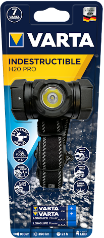 VARTA Indestructible H20 Pro with 3AAA Batteries Blister 1