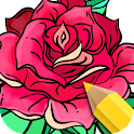 Flowers Coloring Books icon