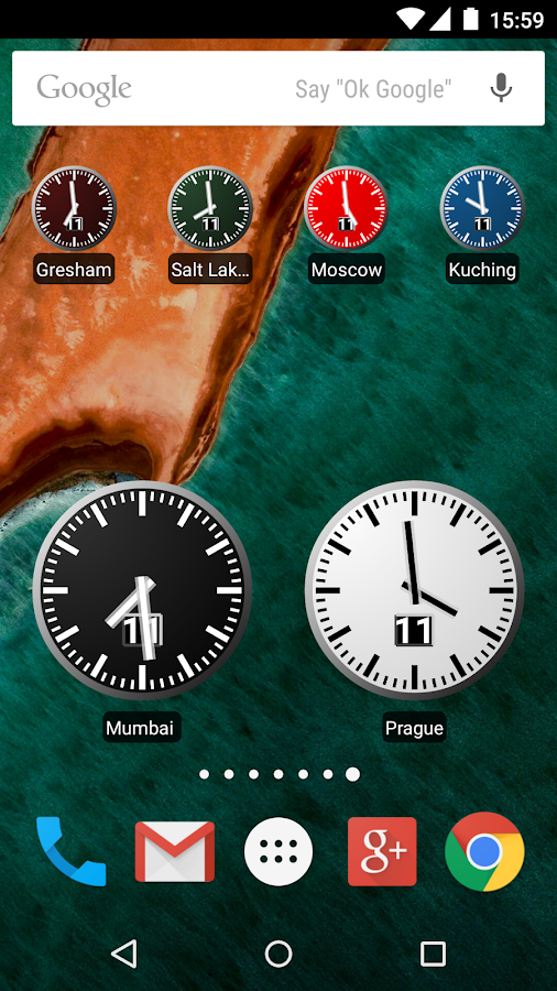 World Clock Widget 2016- screenshot
