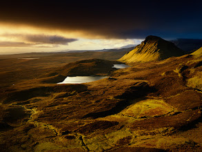 Photo: Sunrise over Quiraing mountain range on Isle of Skye, Scotland. The morning was not promising initially, but it turned quickly into a spectacular performance of light.  #scotland  #landscapephotography