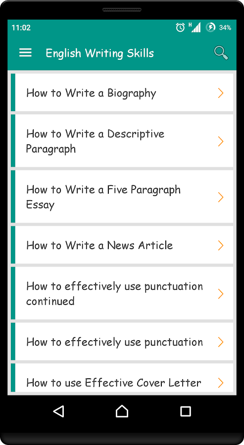 App to help with english writing skills