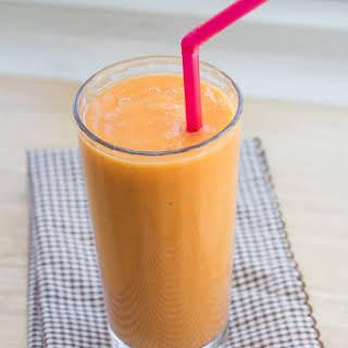Mango, Apple, Carrot, Orange Coconut Smoothie.