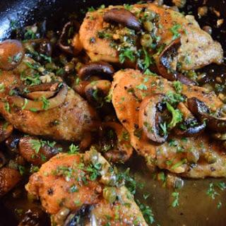 Mushroom Chicken Piccata.