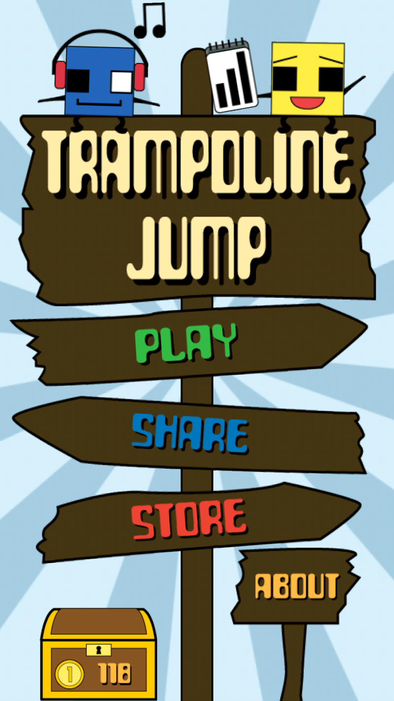 Скриншот Trampoline Jump