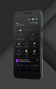 Sense Black/Purple cm13 theme v1.08