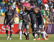 Orlando Pirates celebrating during the Absa Premiership 2017/18 game between Bloemfontein Celtic and Orlando Pirates at Dr Molemela Stadium, Bloemfontein on 26 November 2017.