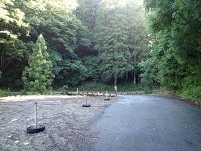 東谷出合付近は広いが駐車禁止