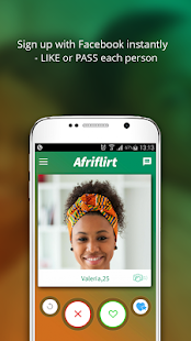 afriflirt Looking to date black singles download afriflirthow it works:1 sign up with facebook or your email address2 swipe right for matches you like and swipe left.