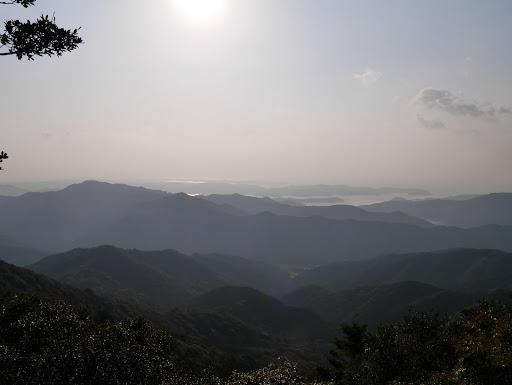 牛草山より靄が薄くなり
