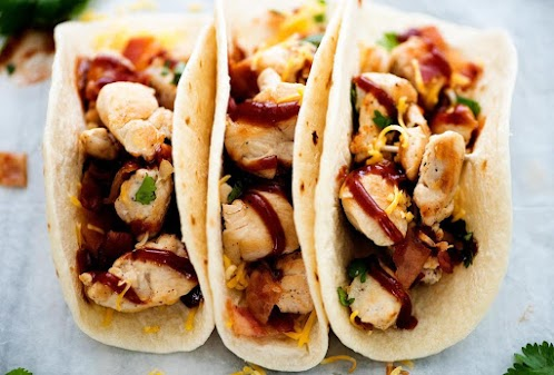 BBQ Chicken Bacon Tacos