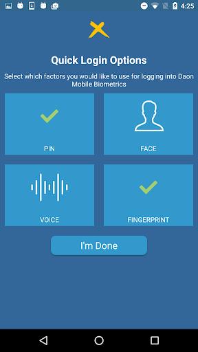 Daon Mobile Biometrics for PC