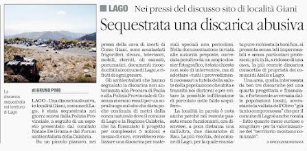 Photo: Il Quotidiano della Calabria 8 gennaio 2014, pag. 31