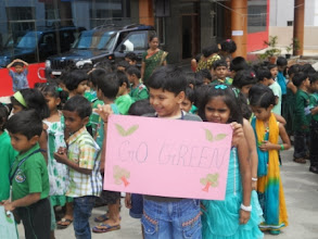 "Photo: I am spreading a message - ""Go Green"""