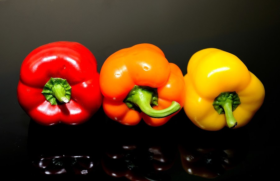 Red,Orange and Yellow by Sanjeev Kumar - Food & Drink Fruits & Vegetables (  )