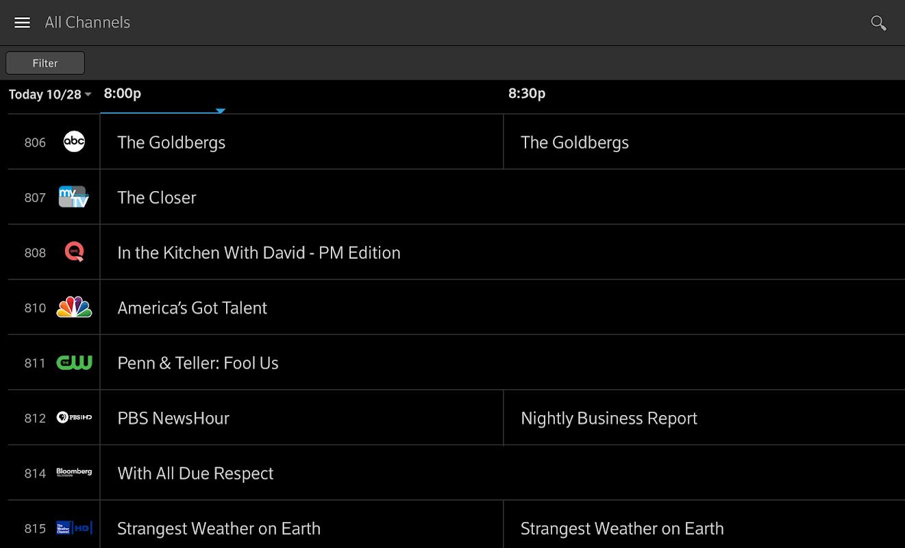 Xfinity Stream screenshots