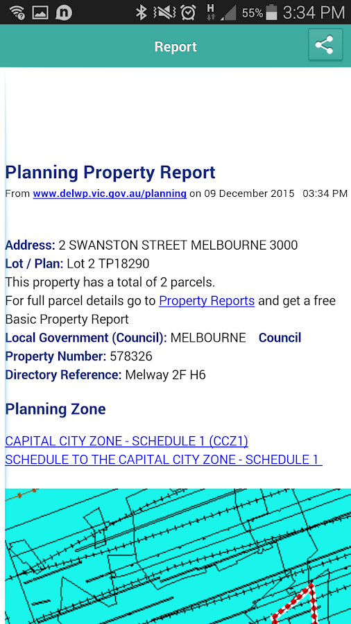 PlanningVIC: Planning Report- screenshot
