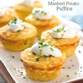 Garlic Chive Mashed Potato Puffins