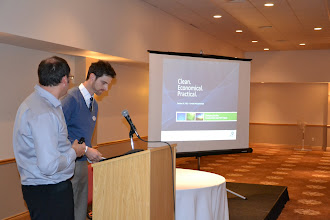 Photo: Jonathan Enns and Tyler Stearns presented the local Plasco energy plant in Ottawa