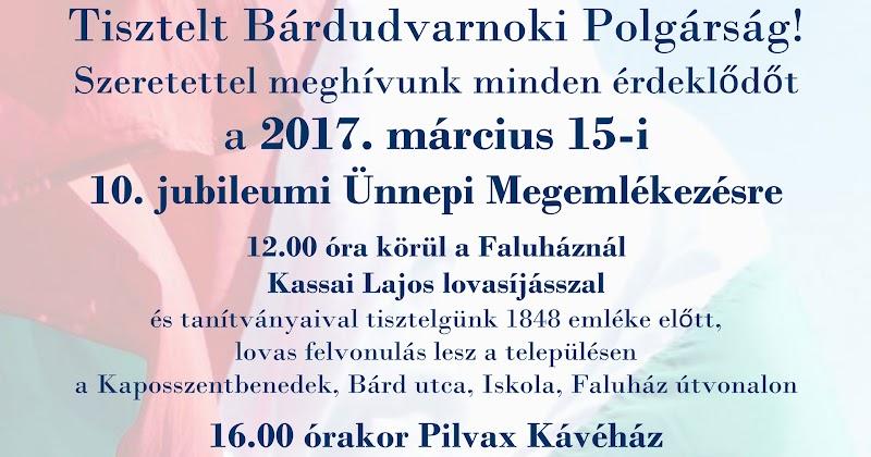 Március 15-i ünnepi megemlékezés 2017