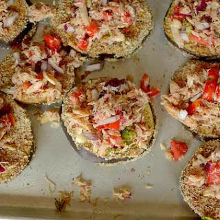 Crab Bruschetta Eggplant Toasts {Paleo & Whole 30}