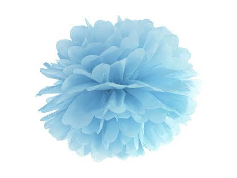Pom pom - ljusblå 35 cm