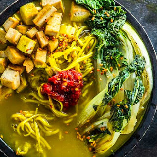 Immune Booster Vegan Ramen Bowl.