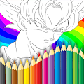 Coloring dragon ball z dokkan