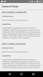 Camera2 Probe for Android 5.0+ screenshot 1