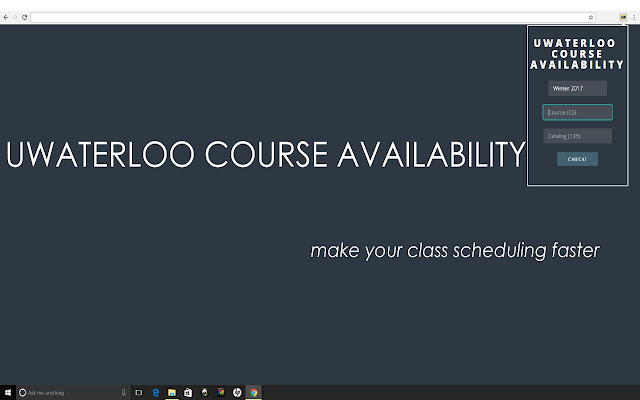 UWaterloo Course Availability