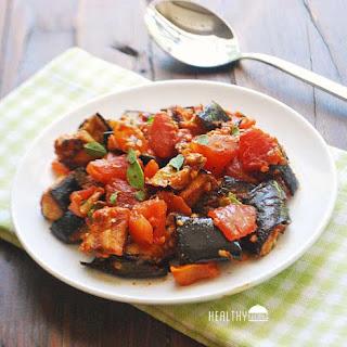 Spicy Eggplant Tomato Stir-Fry