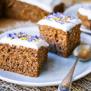 Gluten Free Oat, Hazelnut and Zucchini Cake