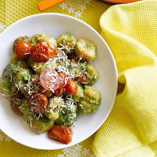 Sweet Potato Gnocchi with Spinach Pesto