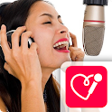 Red Karaoke Sing & Record icon