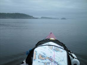 Photo: Crossing Gordon Channel to Deserters Island.