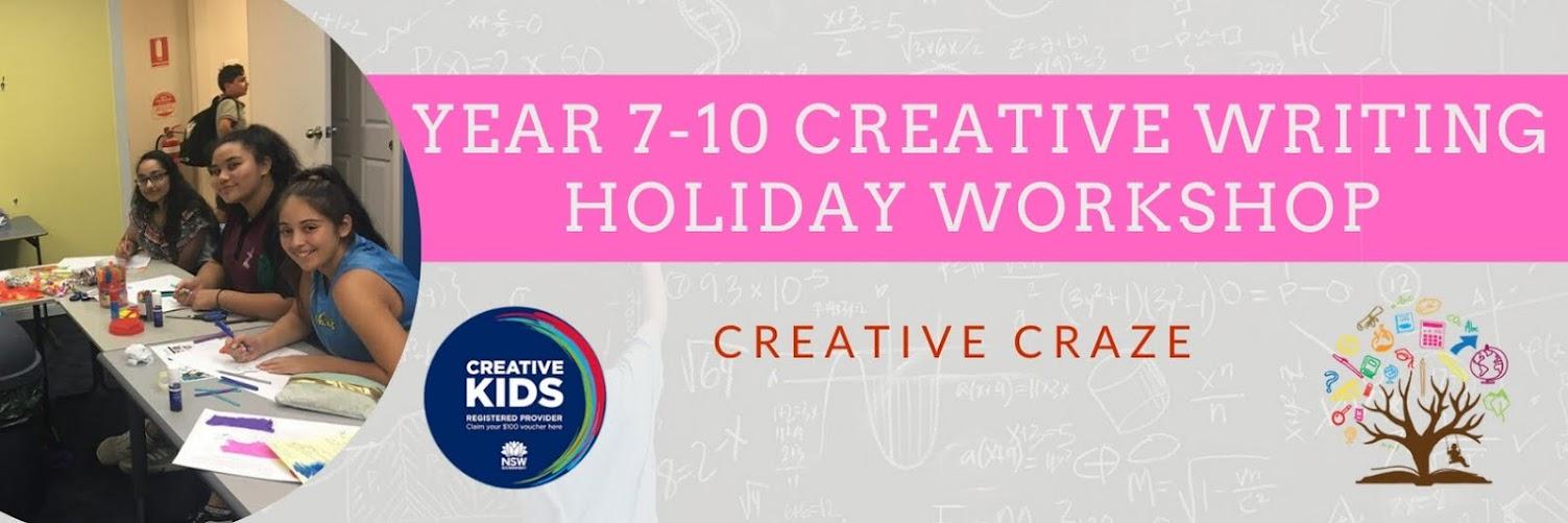 Year 7-10 English - Creative Craze (Online Program)