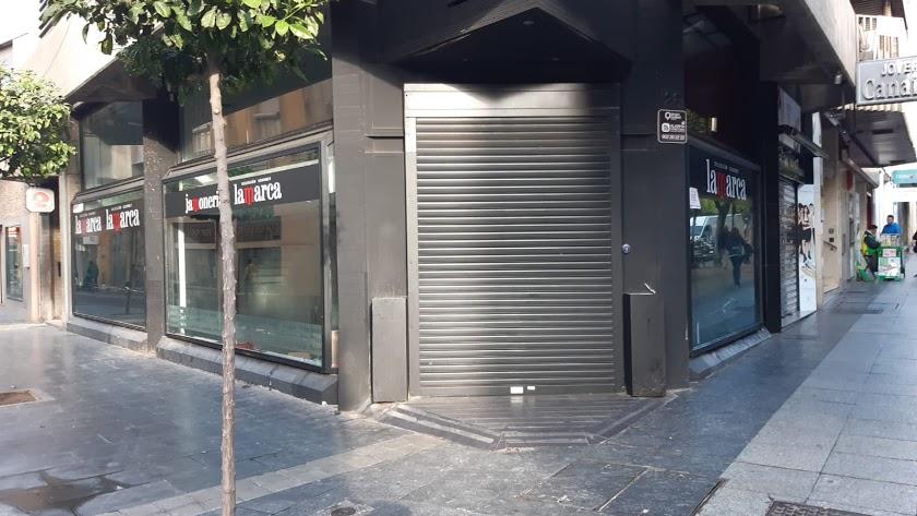 La tienda de Lamarca en el Paseo, cerrada desde el pasado enero.