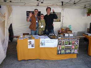 Photo: The EEE 2008 in Mira, Italy. Siggi & Irmgard Hartmeyer and Stewart McPherson at the author's stand.